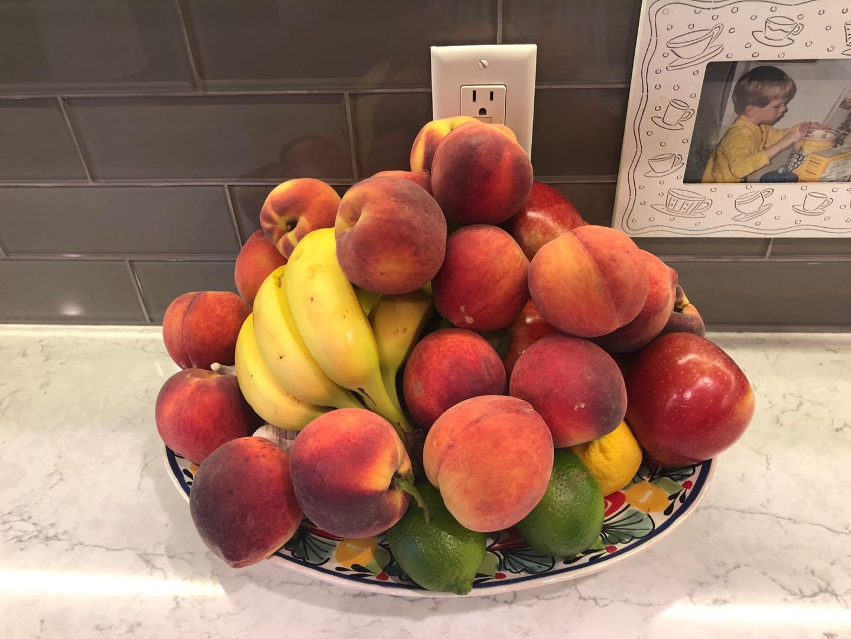 Summer fruit bowl.  Love fresh peaches!!!