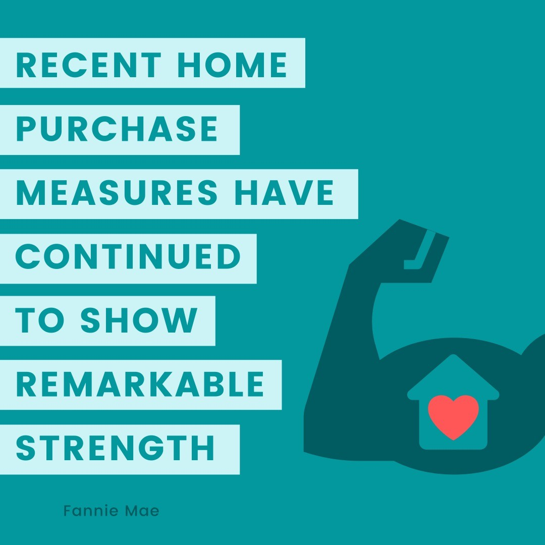 """""""Recent home purchase measures have continued to show remarkable strength, leading us to revise upward our home sales forecast, particularly"""