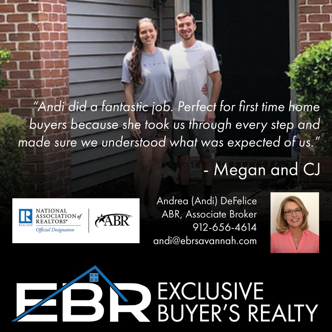 We love, love, love working with first time home buyers! We had the pleasure of meeting and working with Megan and CJ as they looked for and