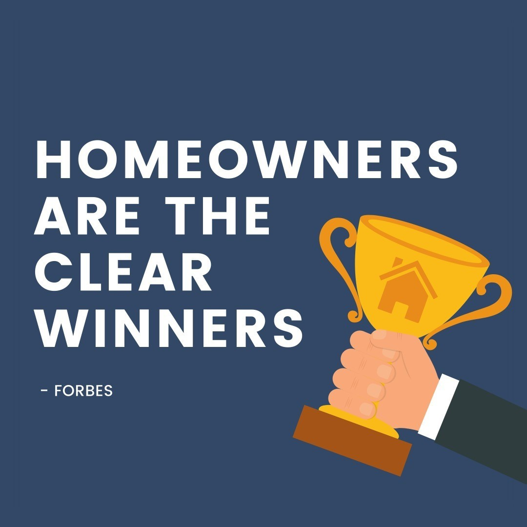 """Homeowners are the clear winners. Low mortgage rates mean the cost of owning is at historically low levels and who gains all the benefits o"