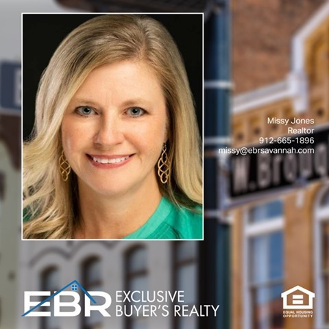 Missy Jones has joined EBR Savannah and one of our exclusive buyer's agents. Missy is a long-time Savannah resident and prior to entering re