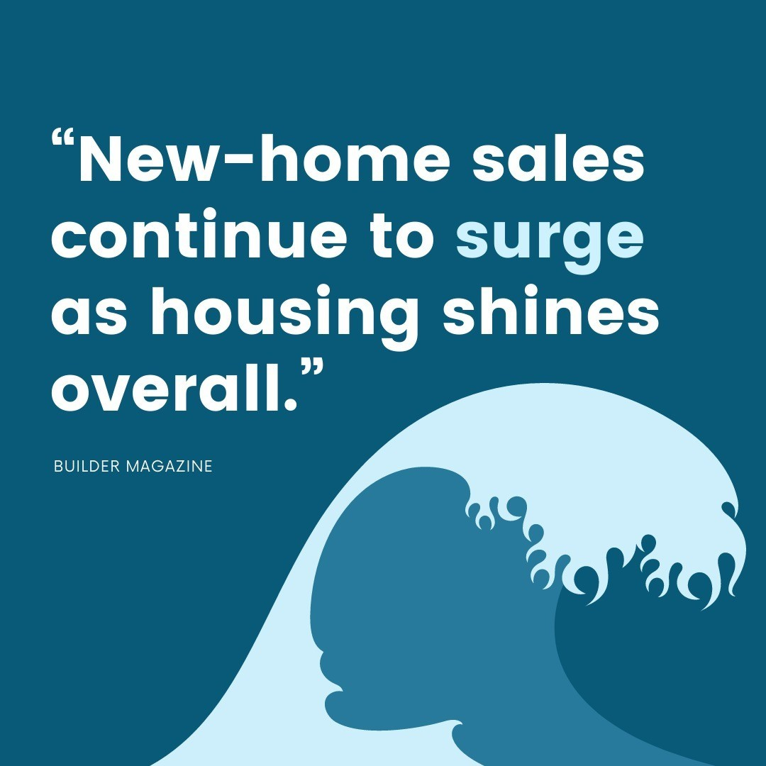 As the housing market surges forward, it's in an even better spot than it was at this time last year. There are more new homes coming to mar