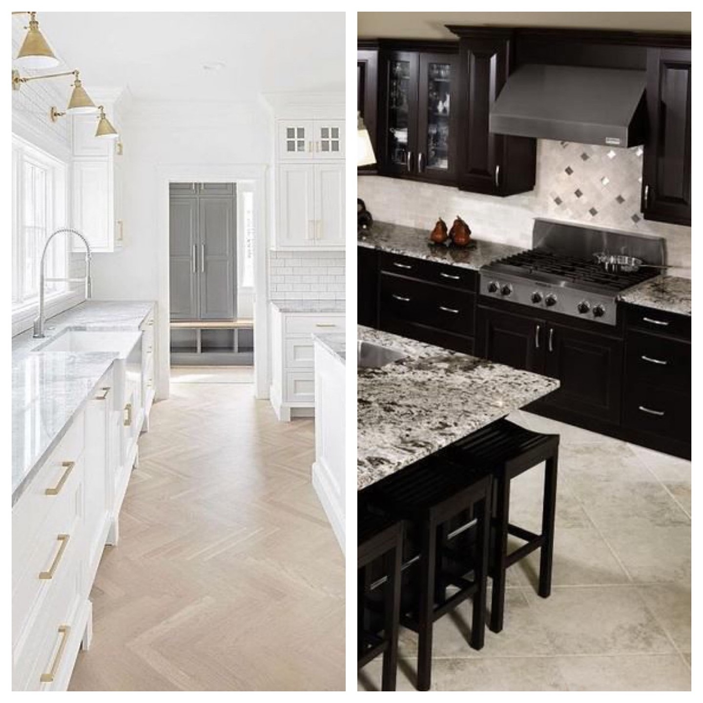 When searching for your dream home which kitchen are you more drawn too?  Light & bright or dark & modern?  Let us help you find that perfec