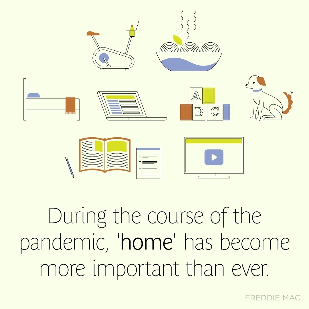 During the course of the pandemic, 'home' has become more important than ever. If the meaning of home has changed for you in the last year,