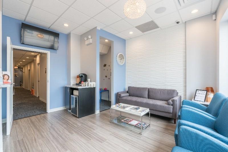 Waiting room at Lakeshore Dental Studio