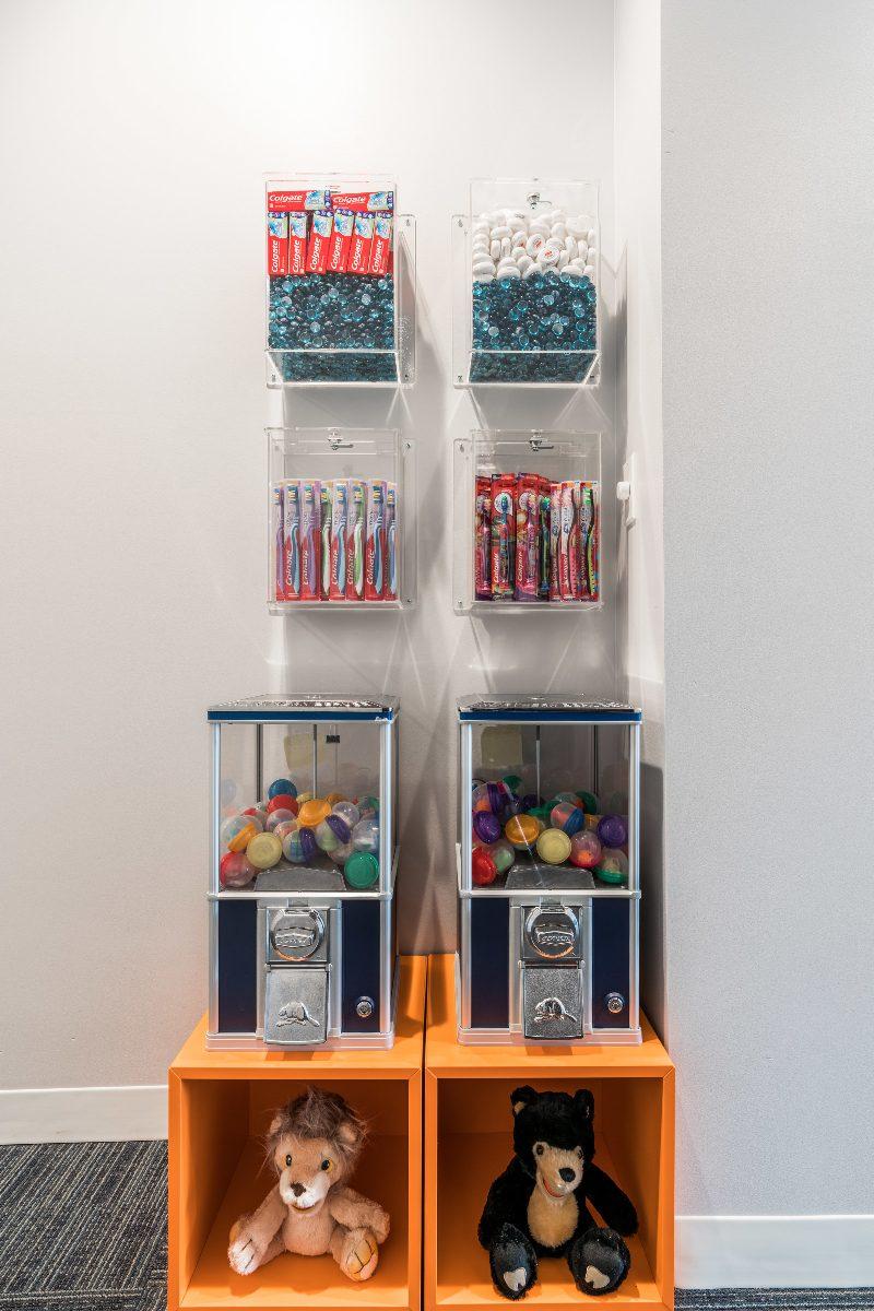 Candies and treats at Lakeshore Dental Studios