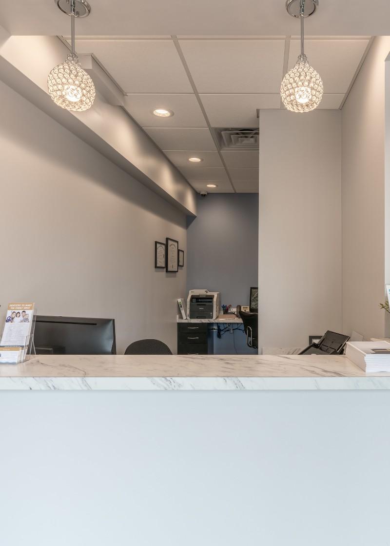 Front desk at Lakeshore Dental Studio