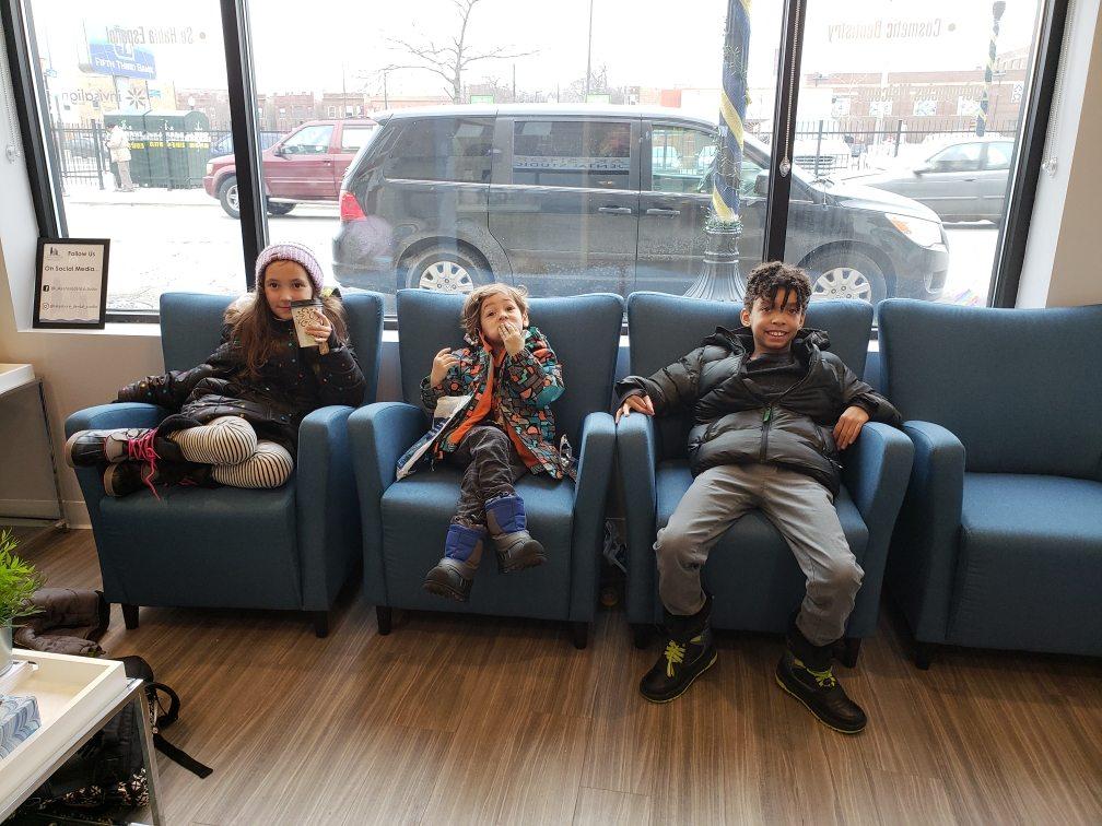 Kids waiting at Lakeshore Dental Studio