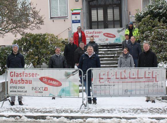 Glasfaser-Spatenstich in Eberschwang und Lohnsburg