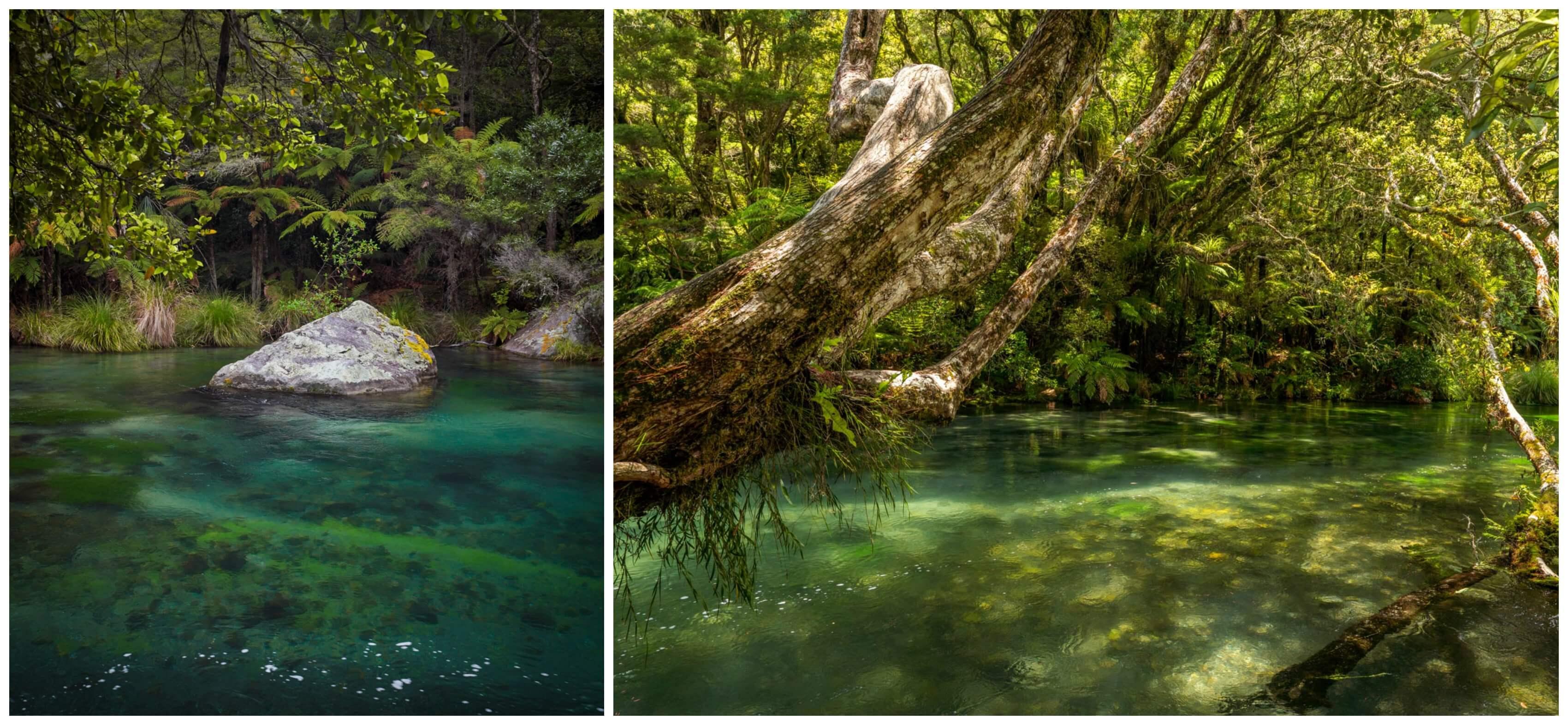 Tarawera Falls River Blue Water