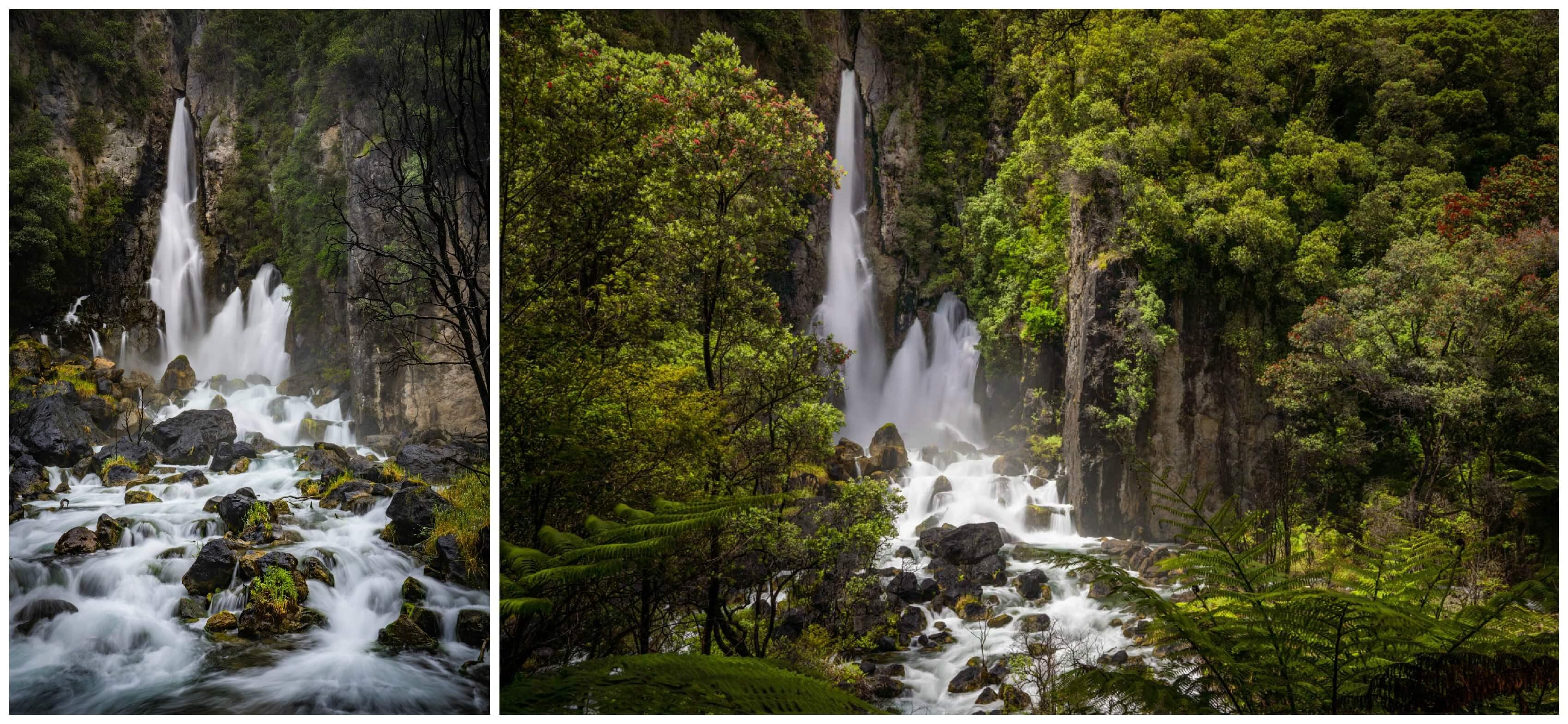 Tarawera Falls Powerful Flow