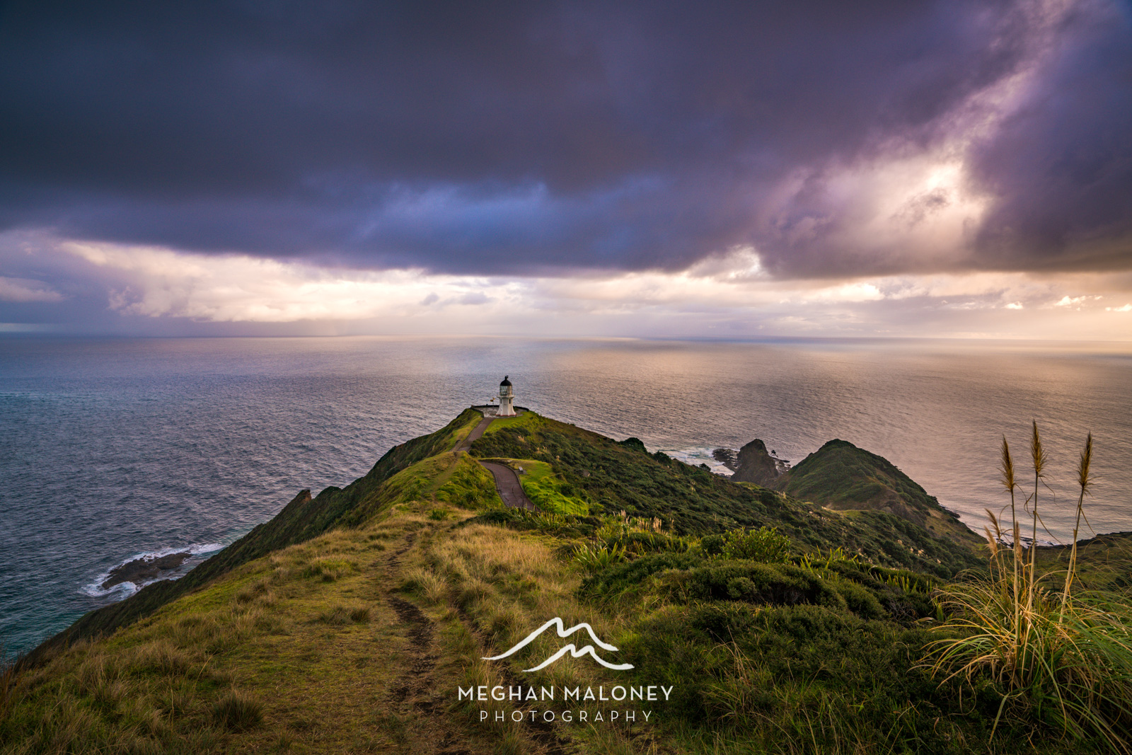Stormy skies at sunrise Cape Reinga