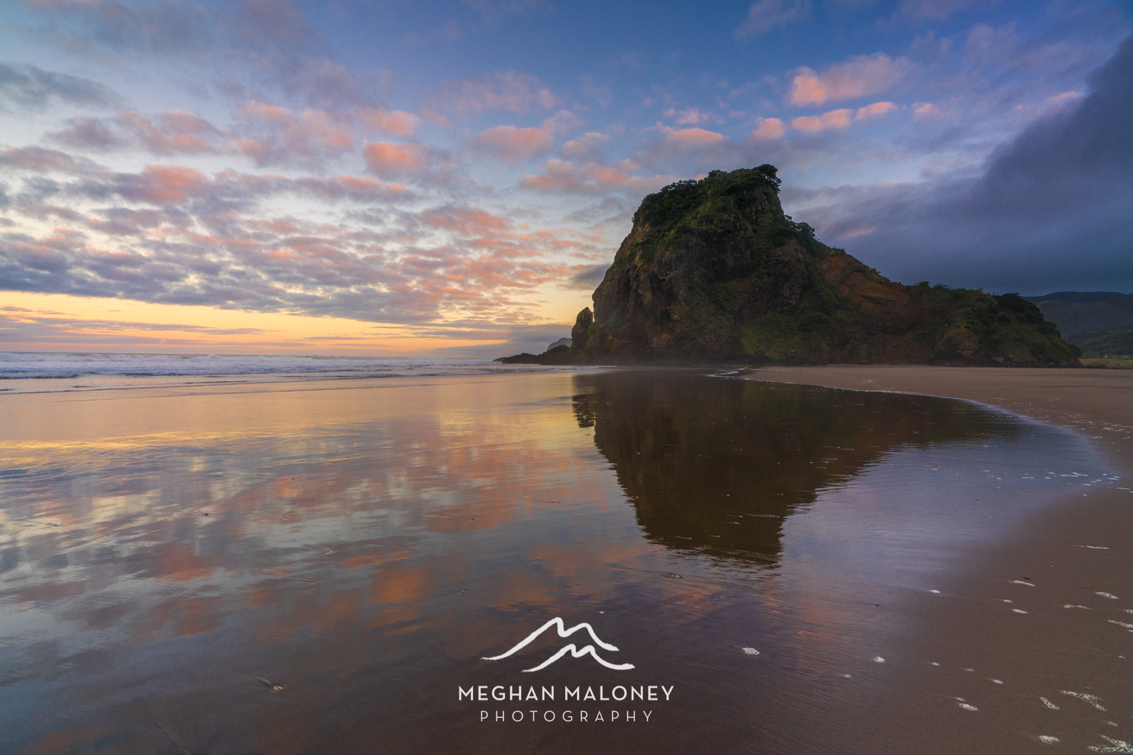 Piha Beach Pastel Sunrise