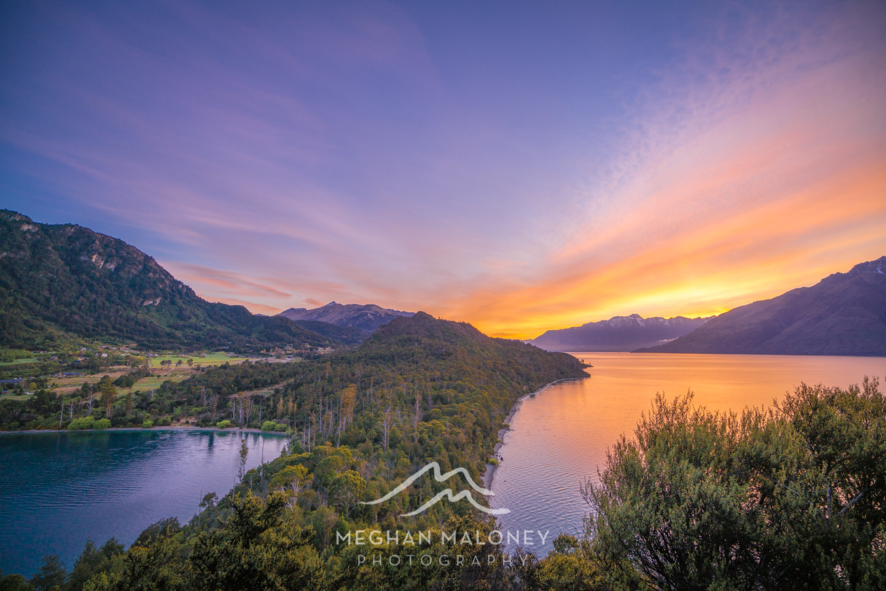 Sunrise above Bobs Cove, Queenstown