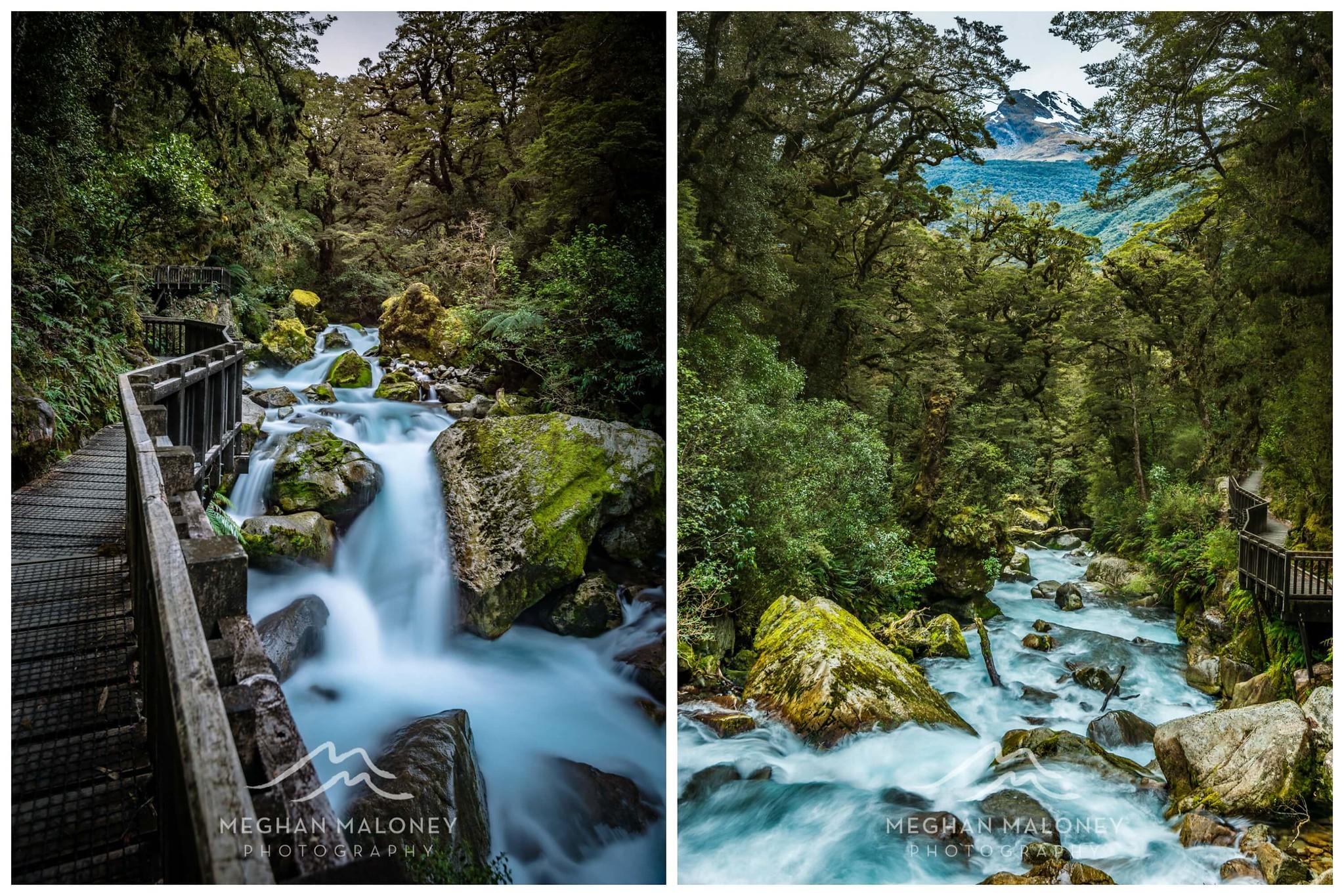 Marian Falls Rapids Fiordland