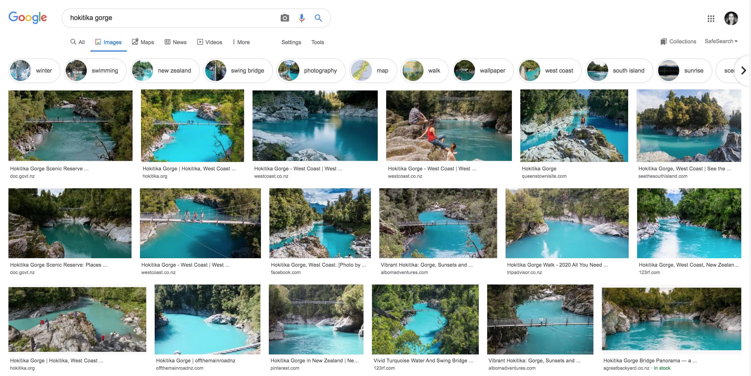 hokitika gorge google image search