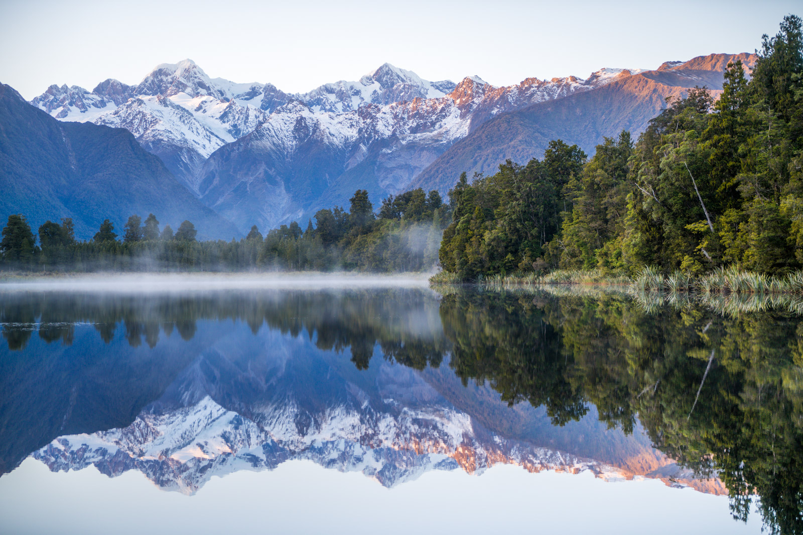 Lake Matheson sunrise reflections