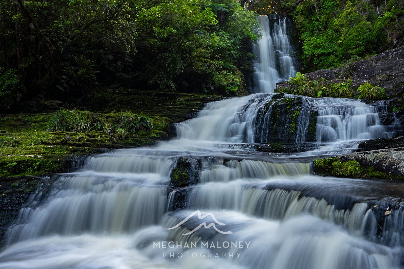 McLean Falls Amazing Tiered waterfall NZ