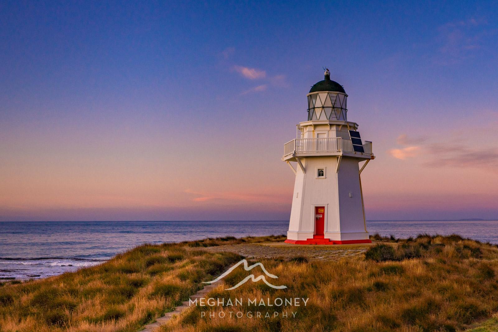 Waipapa Point Lighthouse sunrise