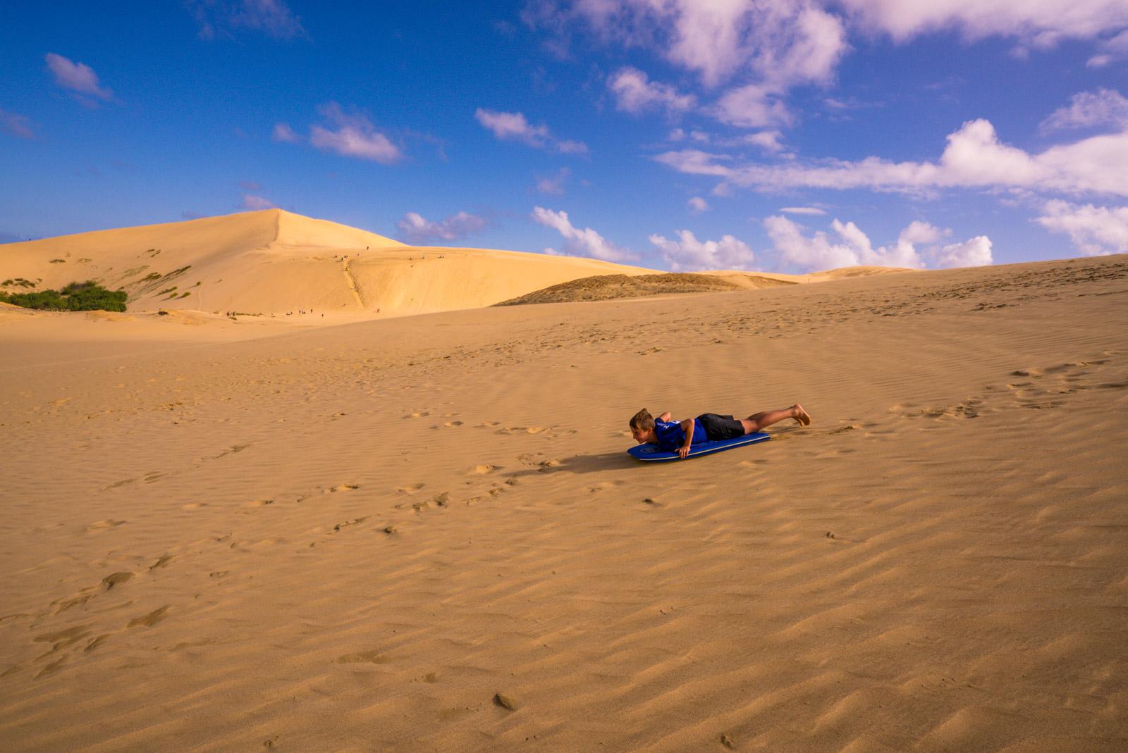 Sandboarding Te Paki