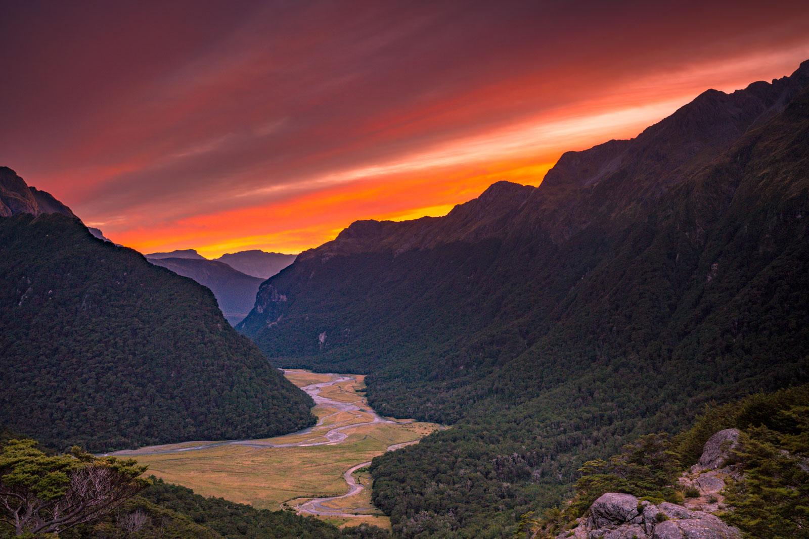Sunrise from Routeburn Falls Hut