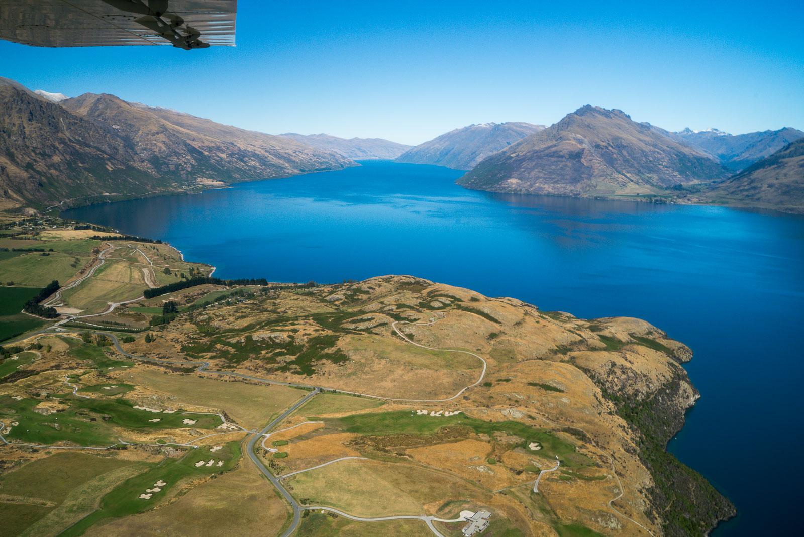 Lake Wakatipu Southern Arm Aerial
