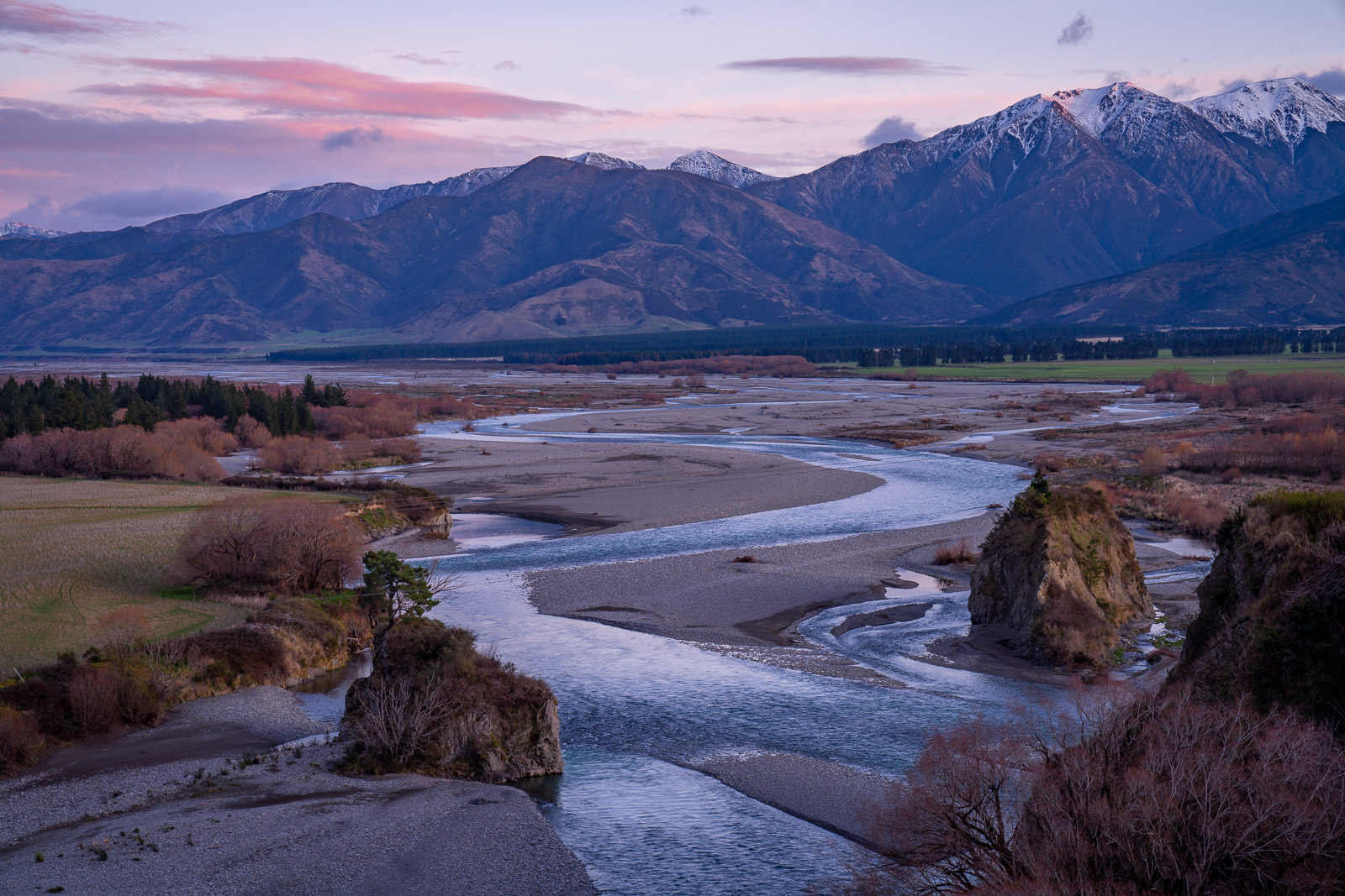 Waiau River Hanmer Springs Sunrise