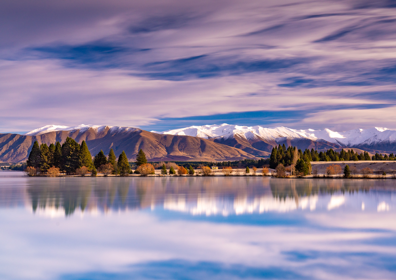 Lake Ruantaniwha Twizel Winter Reflections