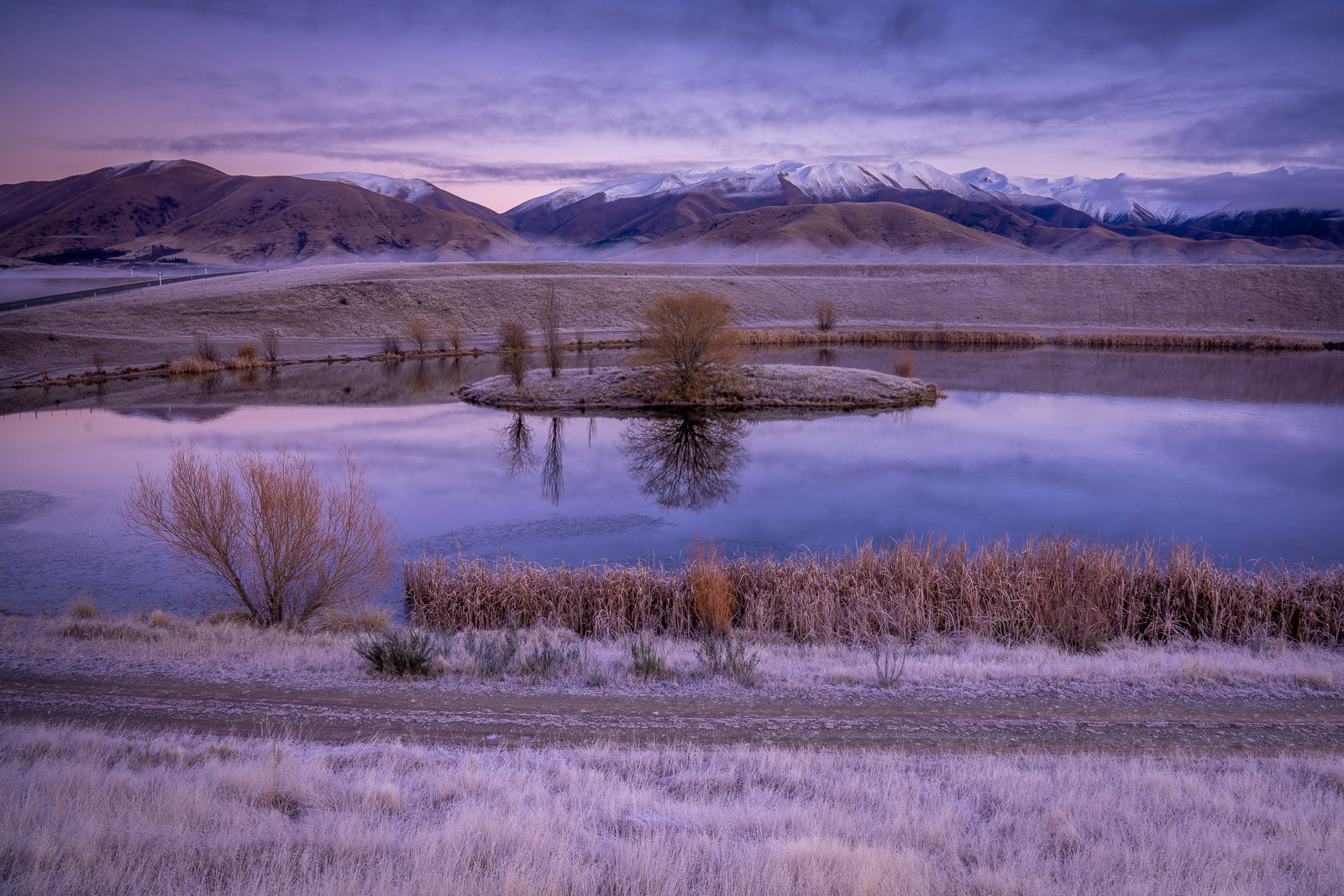 Twizel Frosty Foggy Dawn Loch Cameron