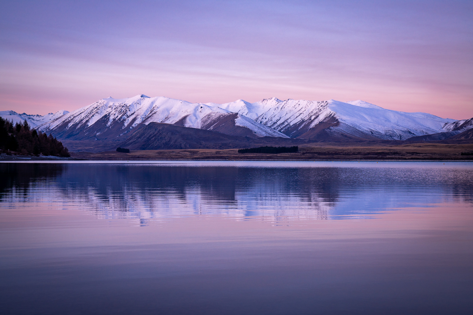 Lake Tekapo Pastel Sunset