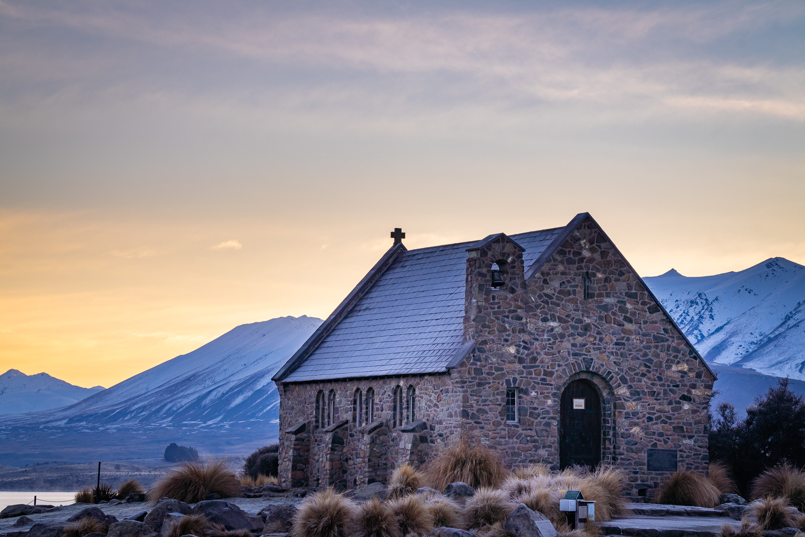 Lake Tekapo Church of Good Shepherd Sunrise