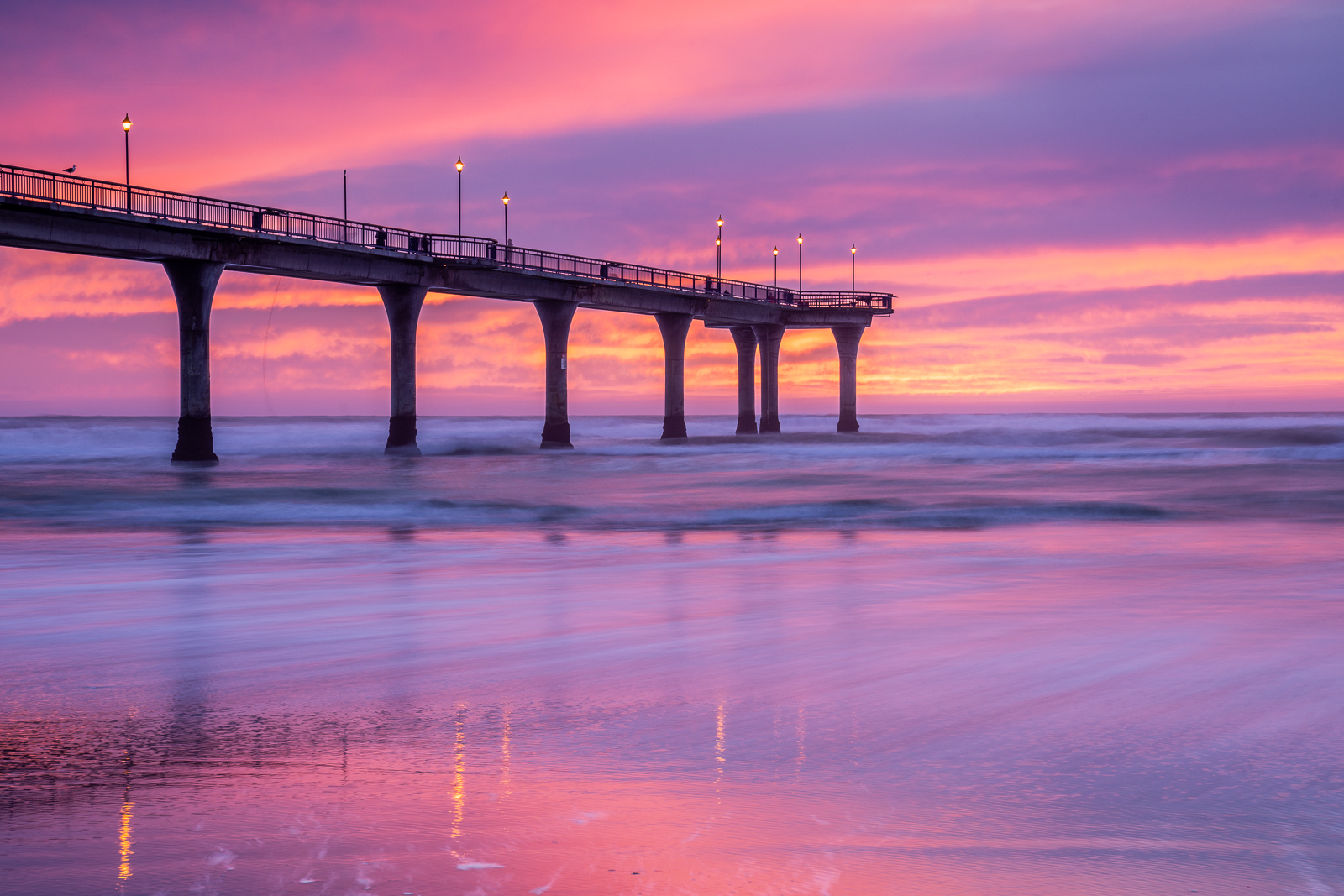 New Brighton Pier, Christchurch at 70mm