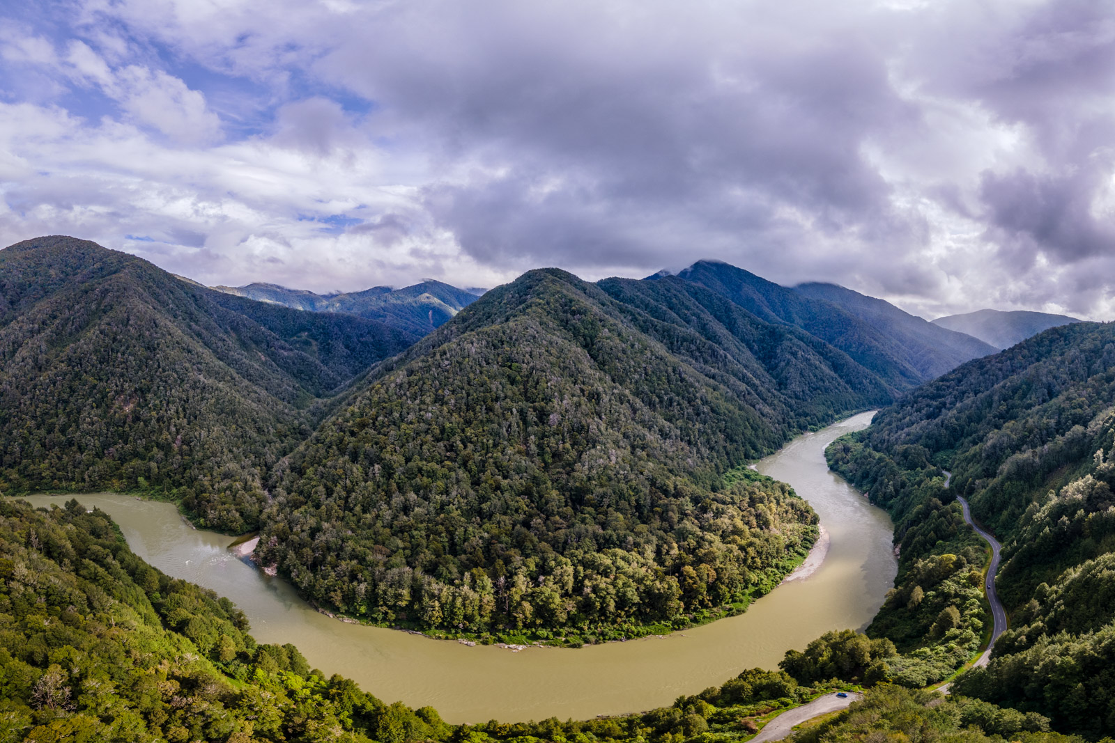 buller gorge aerial view