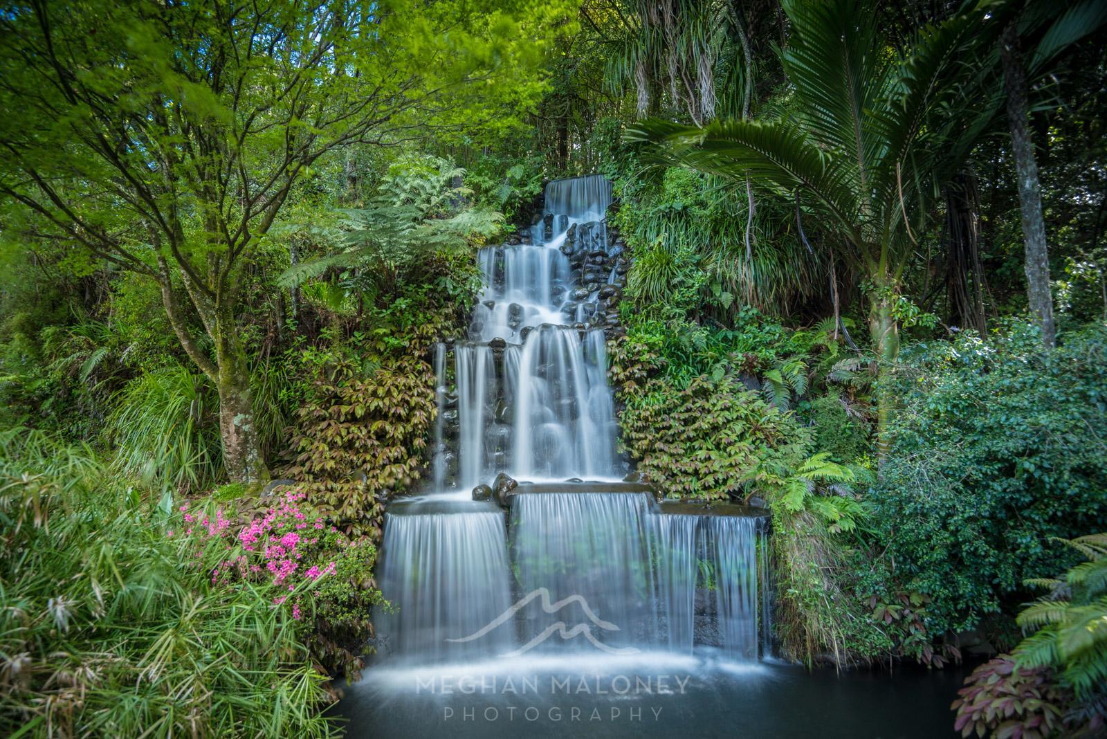 Pukekura Park Waterfall New Plymouth