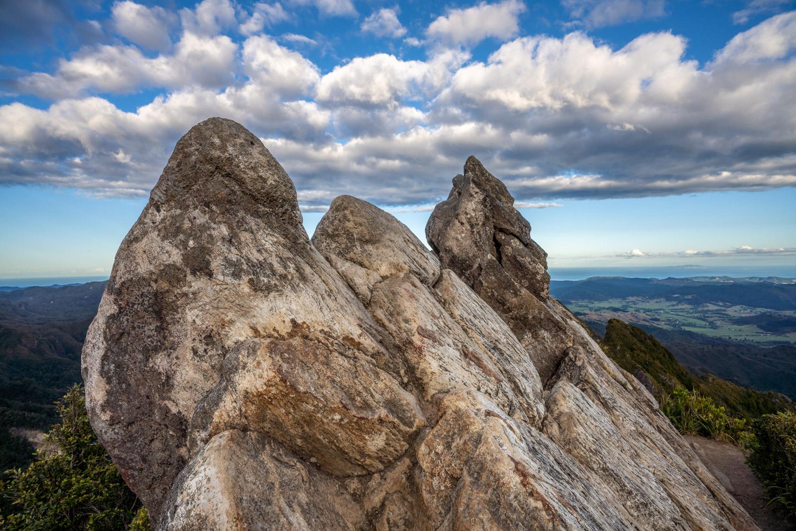 The Pinnacles Summit towards Whangamata