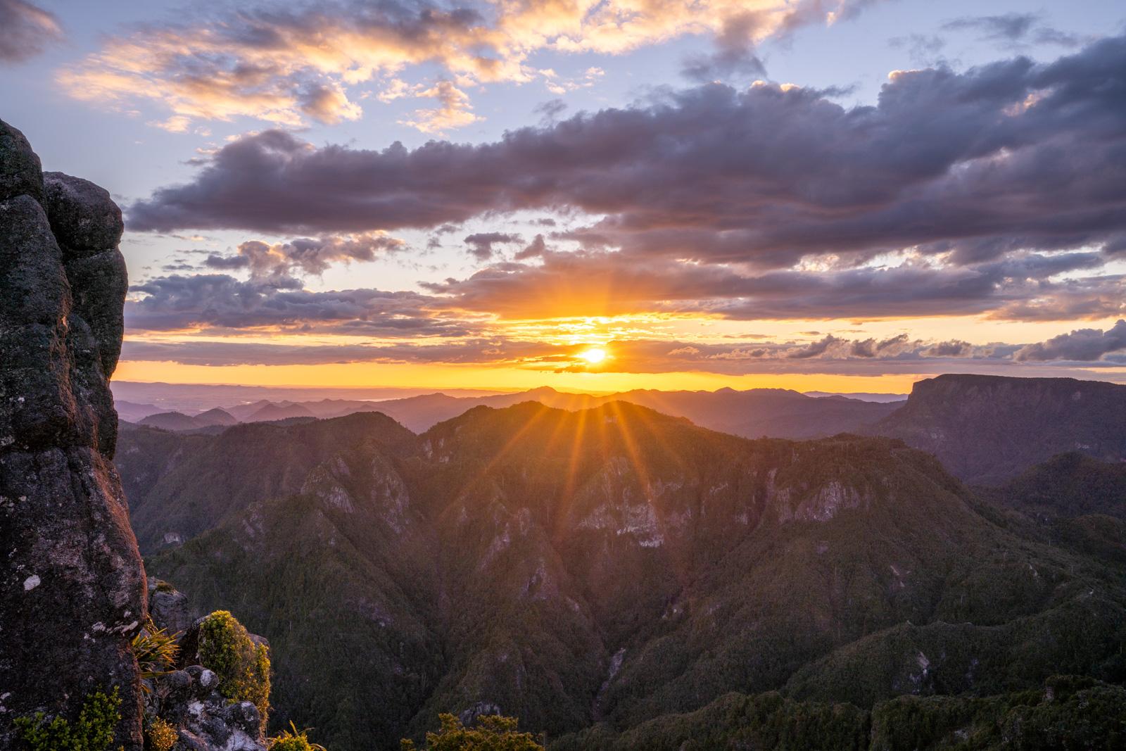Pinnacles Coromandel Sunset