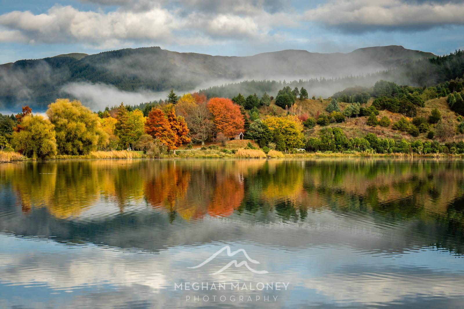 Lake Tutira Autumn Colour Reflections