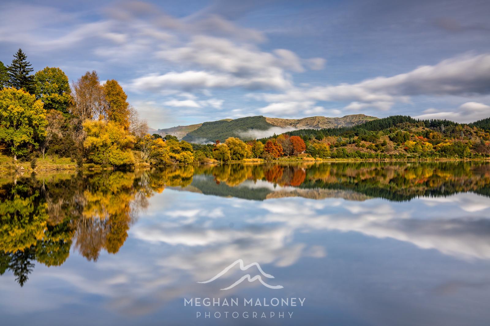 Lake Tutira Autumn Cloud Reflections