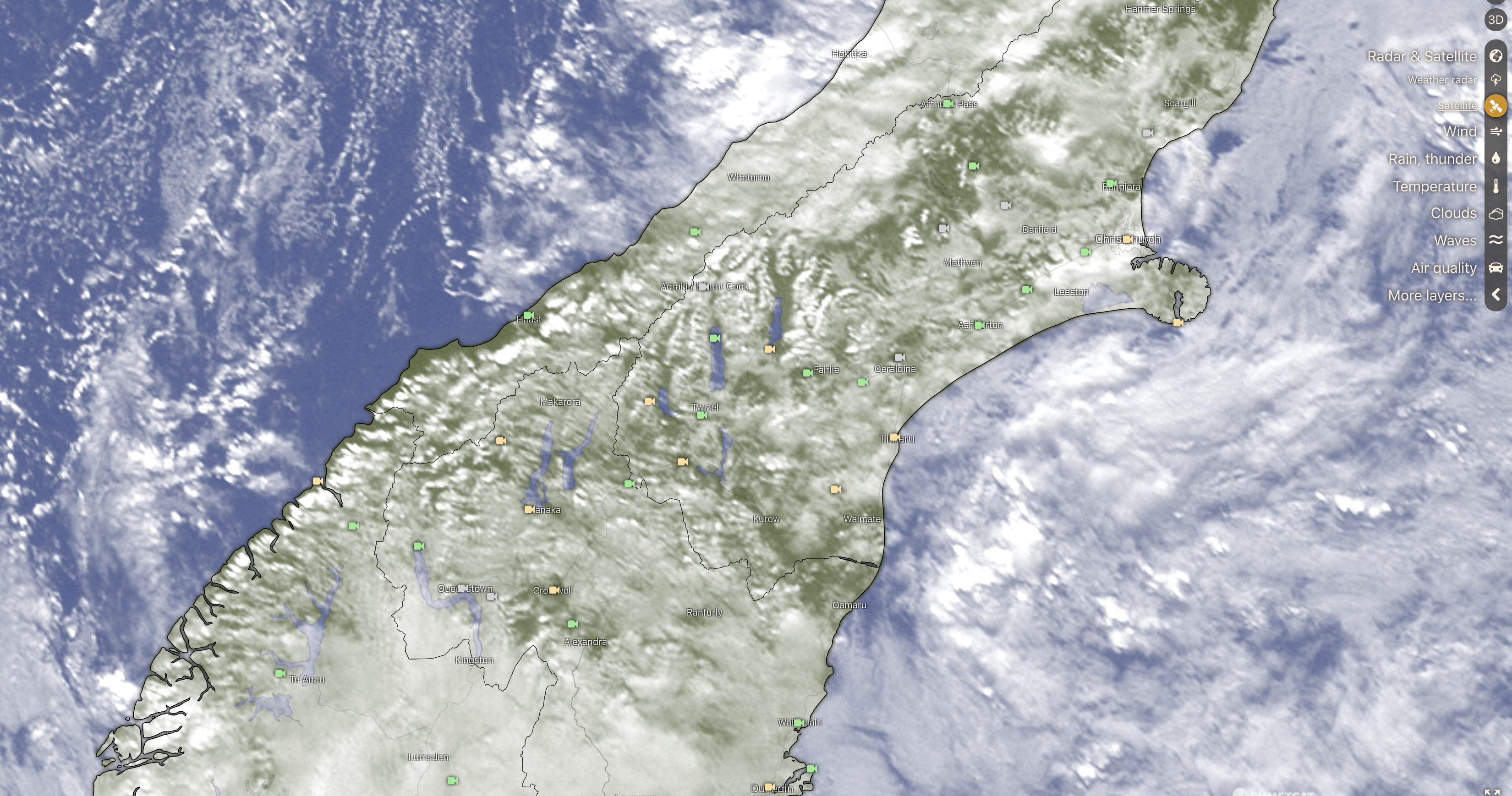 Windy.com satellite imagery
