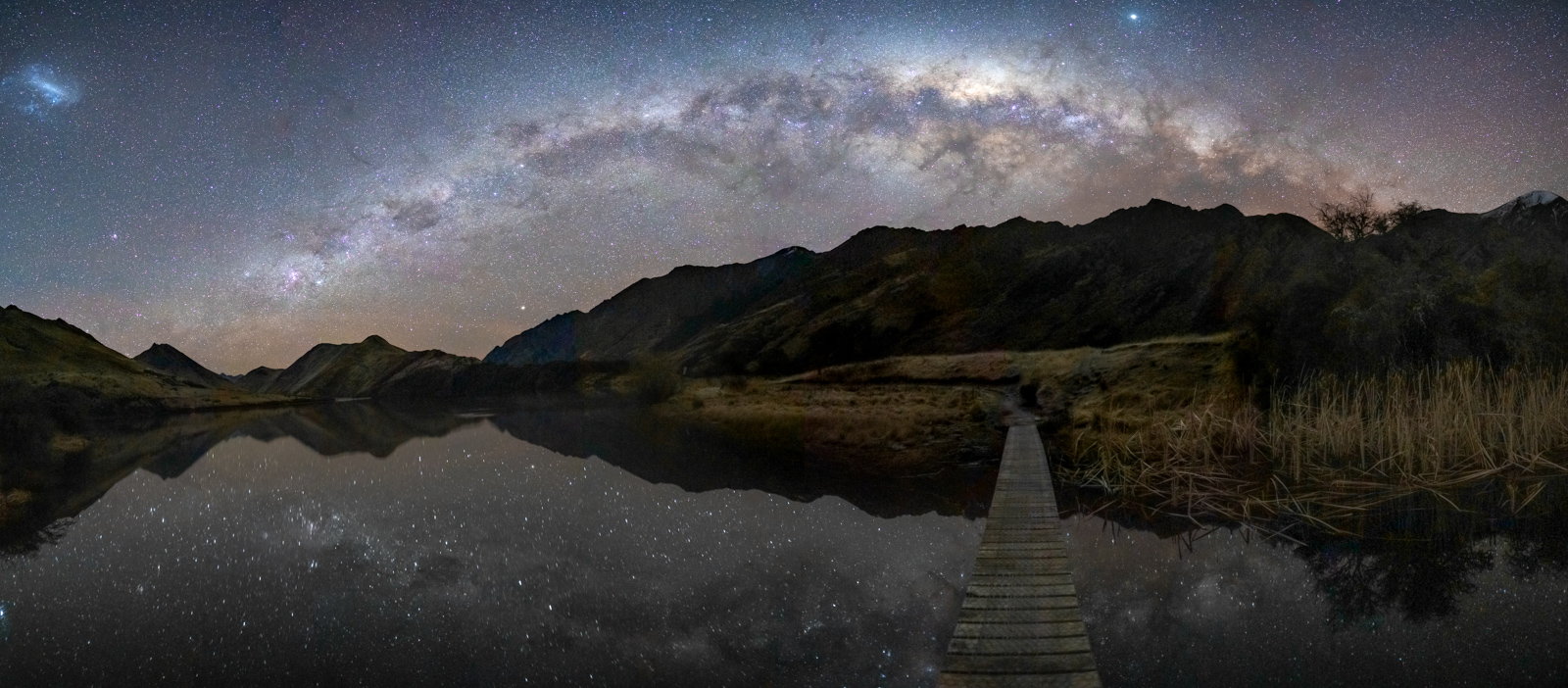 Moke Lake Astro Panorama