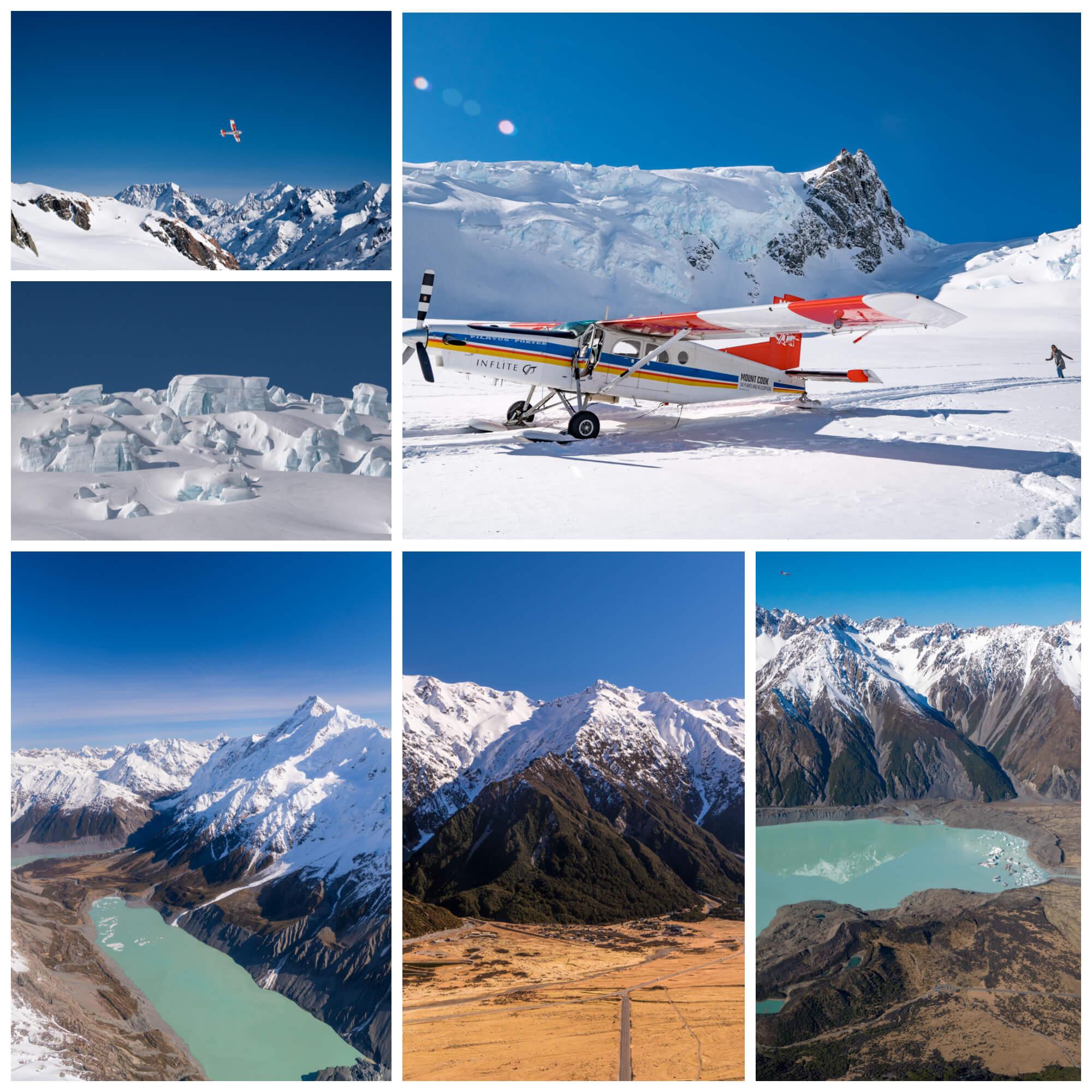 Mt Cook Skiplanes Tasman Glacier Landing
