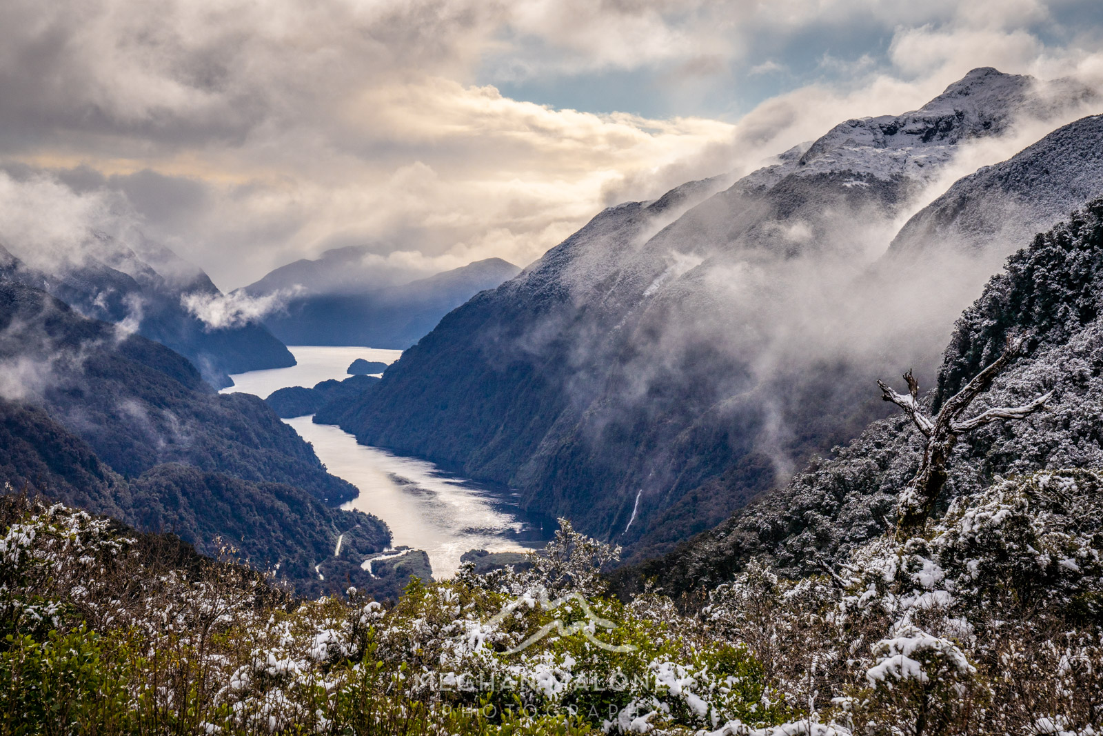 View of Doubtful Sound from Wilmot Pass