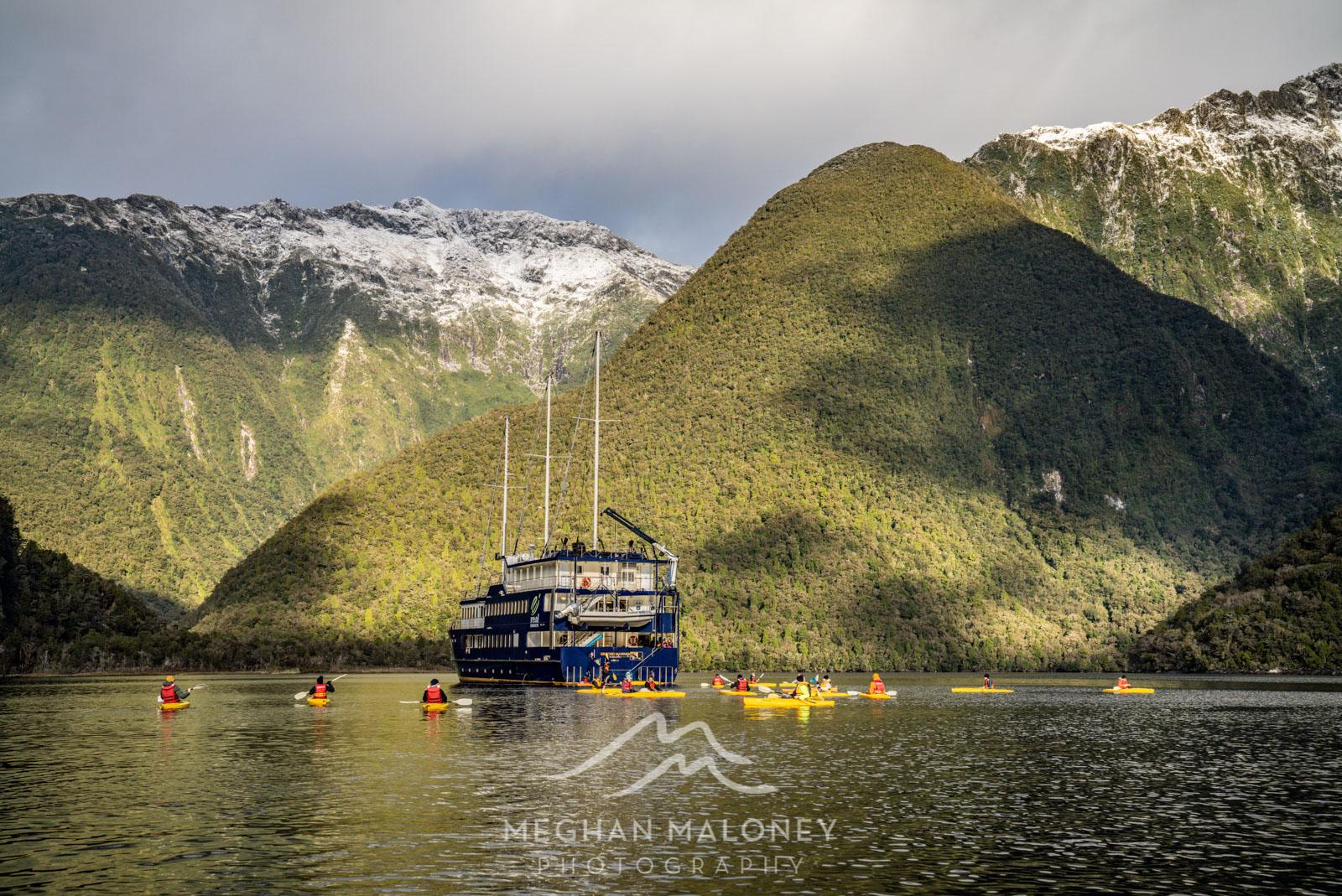 Kayaking First Arm, Doubtful Sound