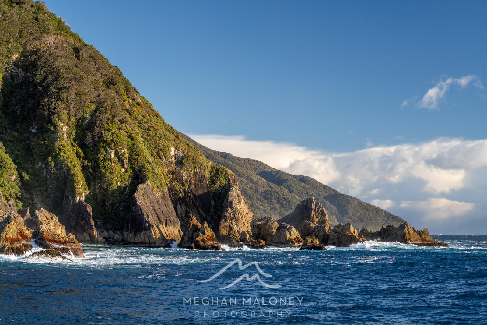 Sunshine at Tasman Sea entrance Doubtful Sound