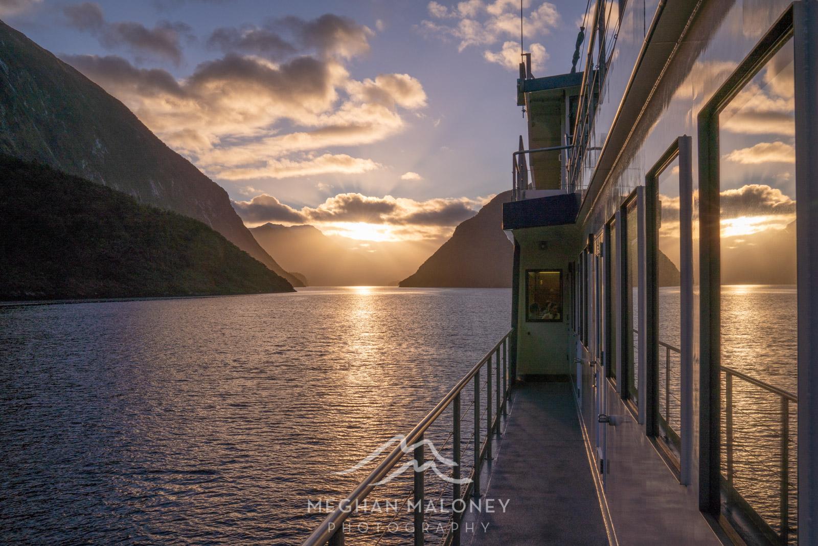Sunrise on Real Journeys Doubtful Sound