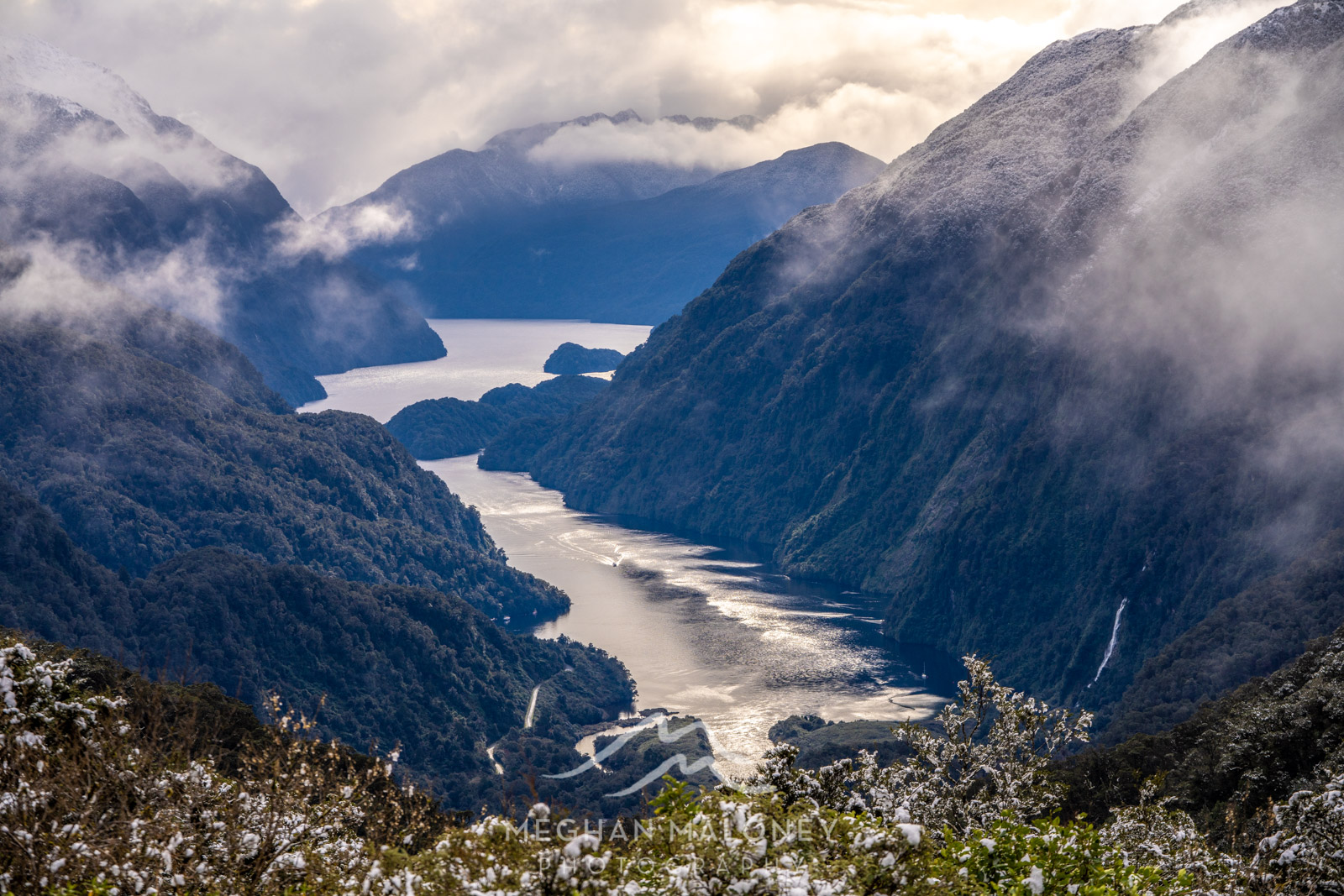 View to Doubtful Sound from Wilmot Pass