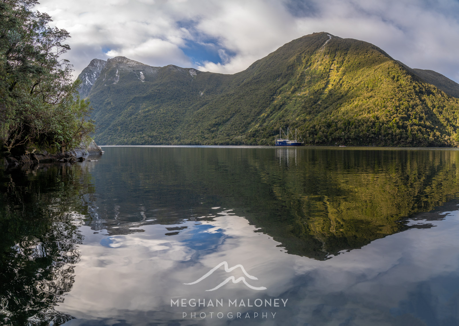 First Arm Reflections in Doubtful Sound
