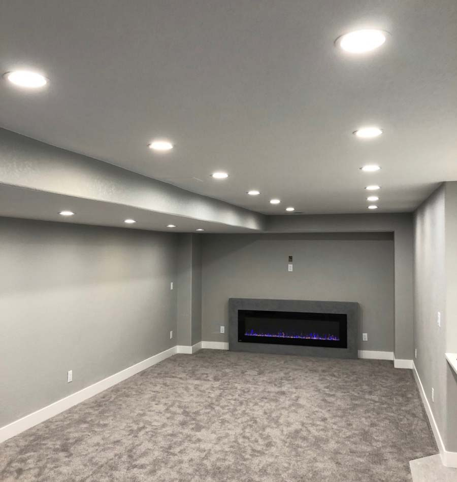 Basement lighting by McColl Electrical Services