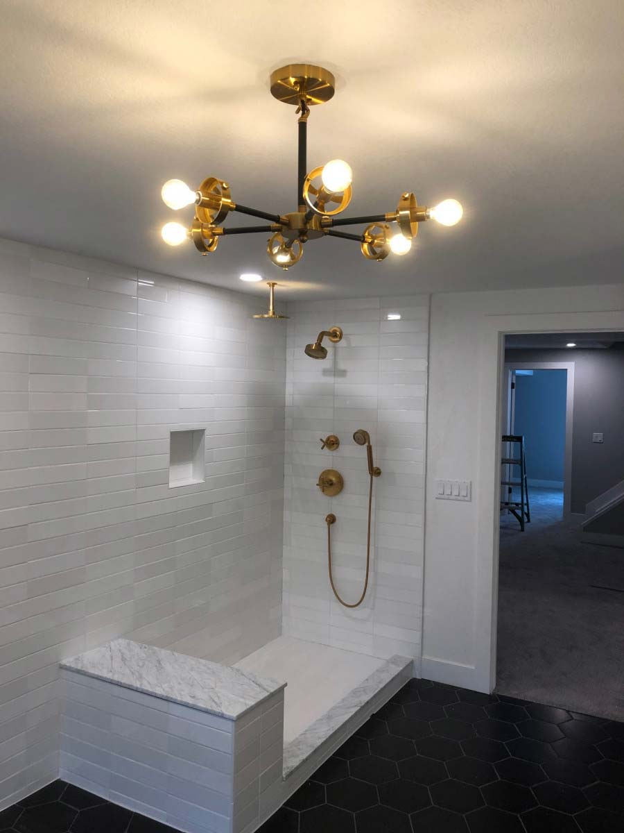 Bathroom lighting in Denver, CO