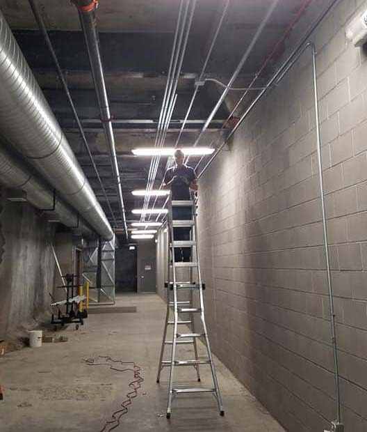 Commercial lighting project